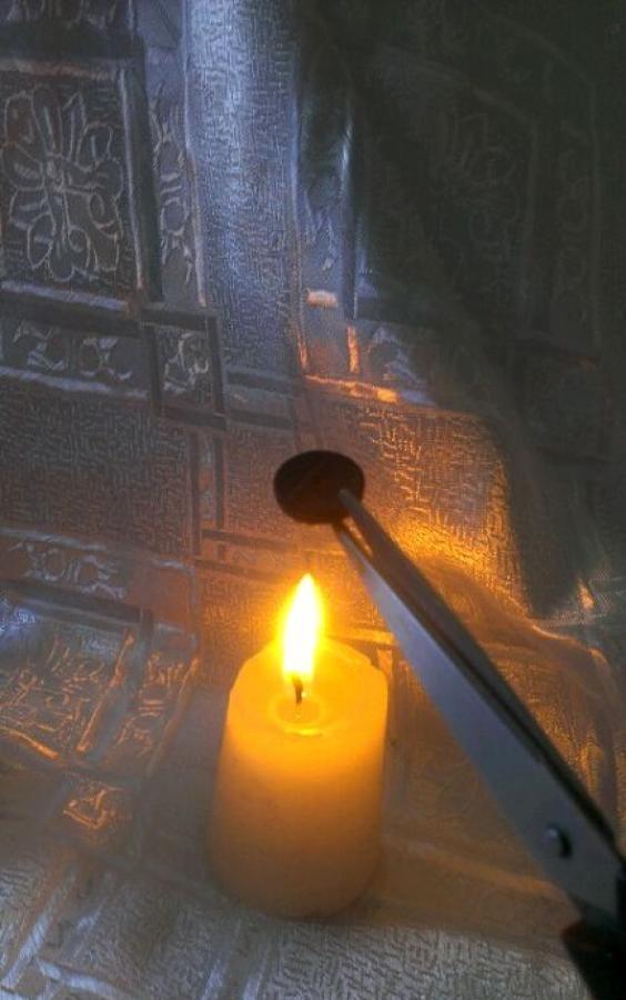 lumânări decoupage