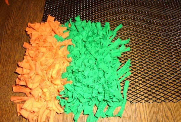 Proces tworzenia puszystego dywanu