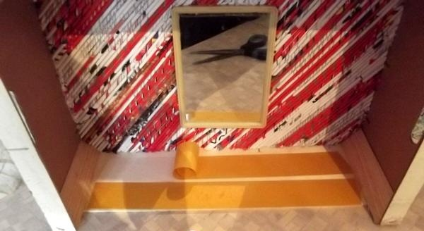 raft decorativ din cutie de placaj