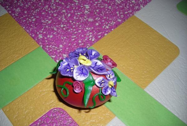 Pat de flori de Paste 3D