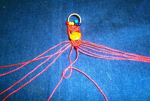 brățară de mărgele macrame