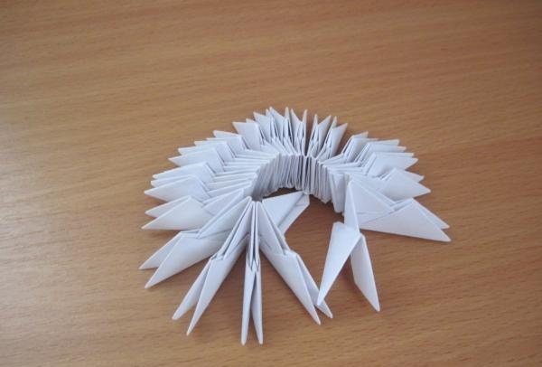 Modular Origami ตลก Bunny