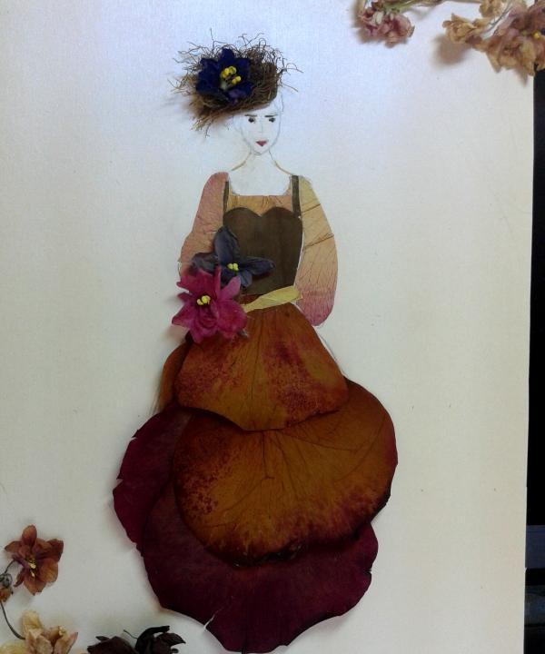 Picture Lady กับช่อดอกไม้