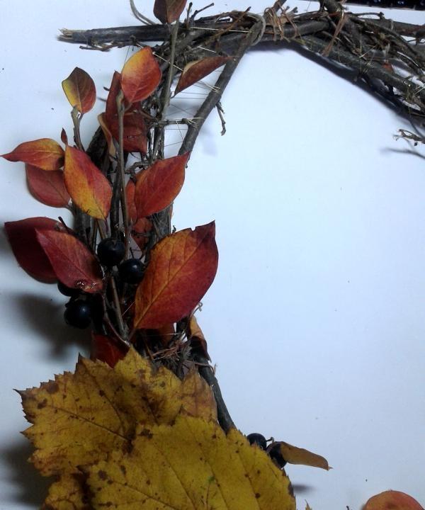 พวงหรีดฤดูใบไม้ร่วงตกแต่ง