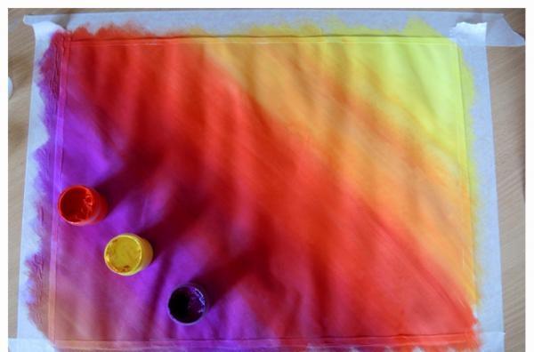 พื้นหลังสดใสและมีสีสันสำหรับภาพจิตรกรรมฝาผนัง