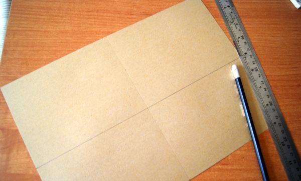 ทำเครื่องหมายแผ่นกระดาษงานฝีมือ