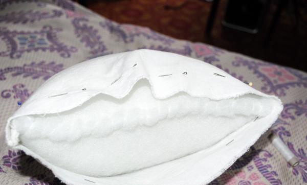 Шийте торбичка от синтетичен зимник