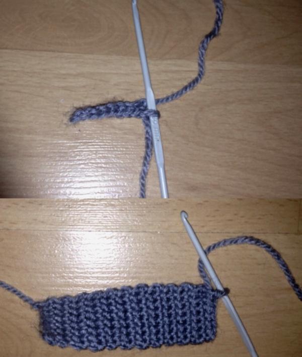 tricotamos um curativo na cabeça