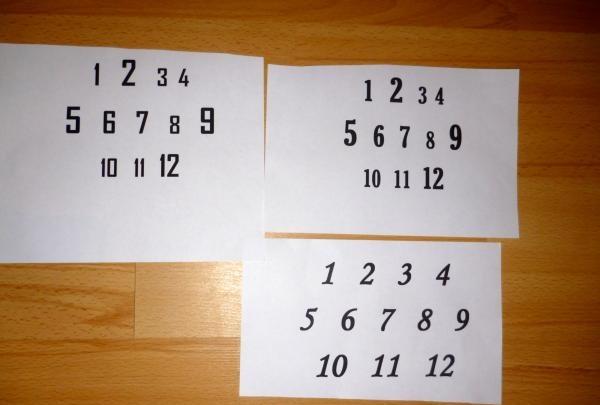 ตัดสี่เหลี่ยมด้วยตัวเลขแต่ละหลัก