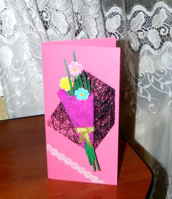 Lykønskningskort Bouquet