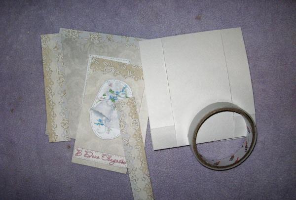 Сгъваема сватбена карта