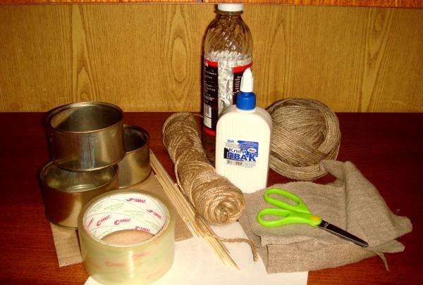 forbered følgende materialer