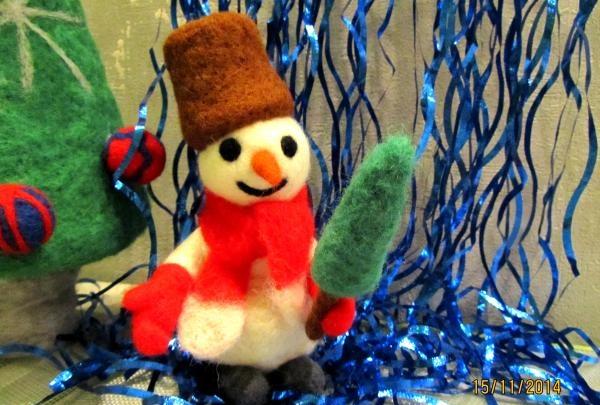 ตุ๊กตาหิมะที่ทำจากผ้าขนสัตว์