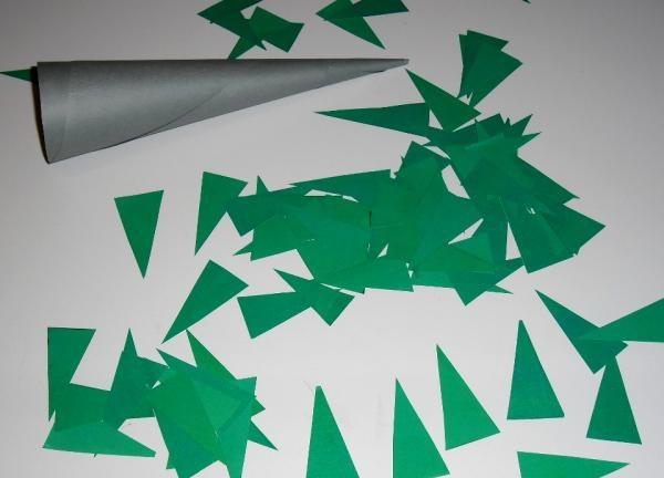 wycięte trójkąty