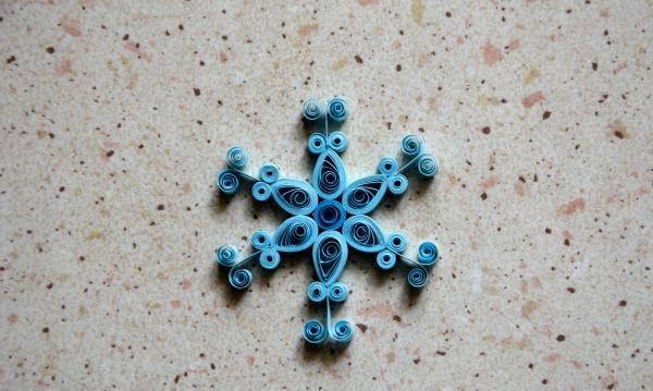 Lykønskningskort quilling Snowflake