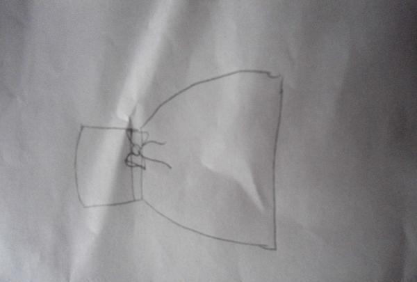 desenează-i o bucată de hârtie