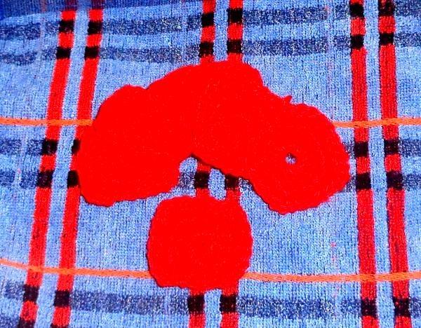 Dywan z dzianiny w kształcie serca