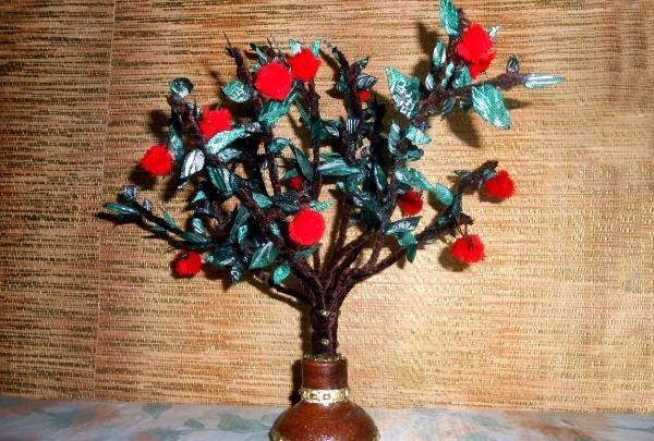 Dekorativt æble træ
