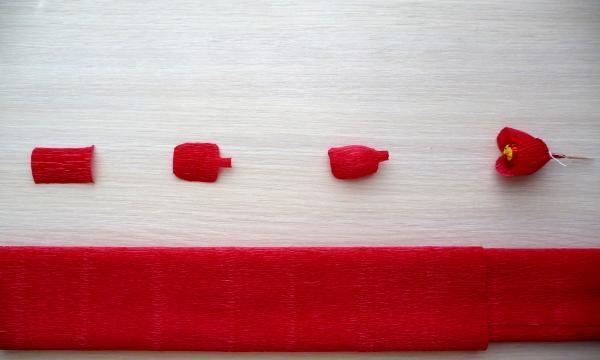 Klip ud af rødt papir