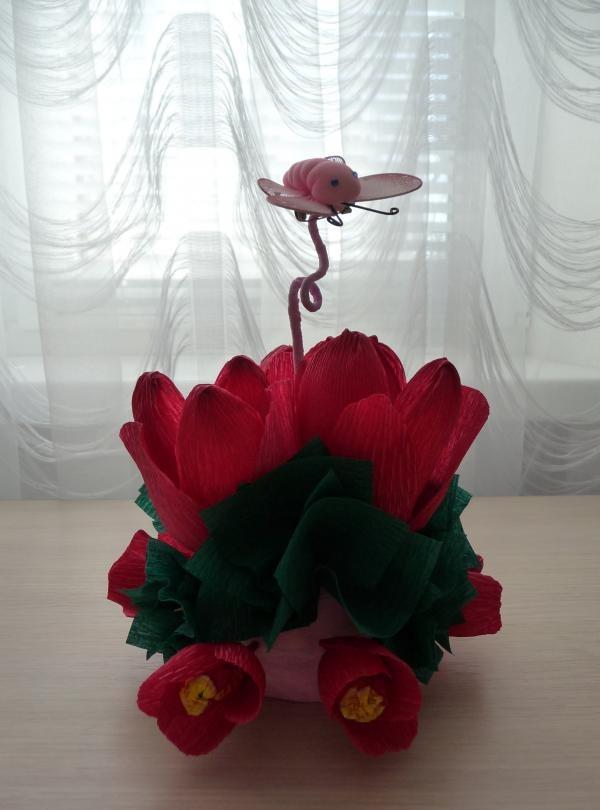 Sød tulipanbuket