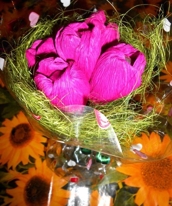 Buquê de tulipas primavera de doces