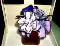 Violetiniai ant palangės