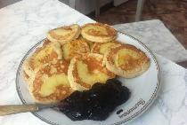 Havregryn pandekager med æbler