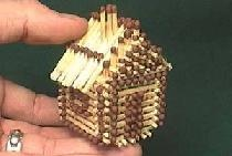 Construímos uma casa de fósforos