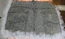 Fartuch starych jeansów