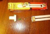 Prosty konwerter do zasilania lamp energooszczędnych