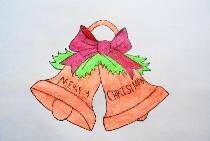 Draw christmas bells