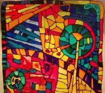 ภาพวาดแก้ว - การเลียนแบบของกระจกสี