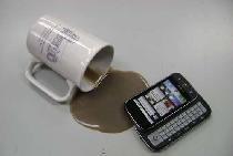Verschütteter Kaffee