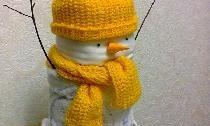 ตุ๊กตาหิมะทำจากผ้าอ้อมสำเร็จรูป