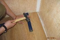 Reparația podelei, instalarea pardoselilor laminate și a fusta