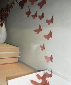Wystrój wnętrz z motylami