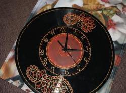 Vẽ tại chỗ của một chiếc đồng hồ, từ một bản ghi vinyl.