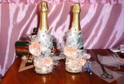 Șampanie de nunta DIY