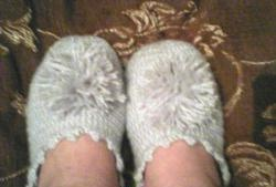 Felt-soled slippers