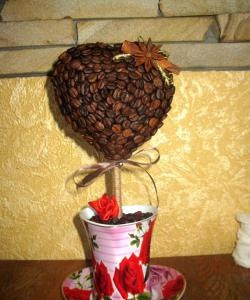"Coffee Topiary ""Heart"""
