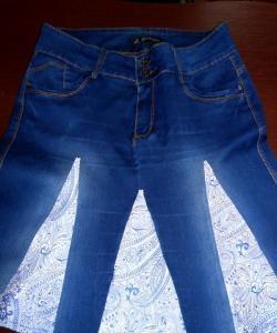 Stylowa spódnica ze starych jeansów