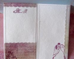 Ręcznie robiona karta ślubna