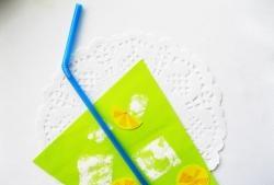 Limonada de papel colorido