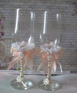 Decoração de óculos de casamento