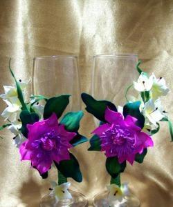 Стъклена украса с хортензия и фоамирански анемони