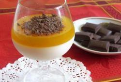 Panacota cu suc de portocale și ciocolată