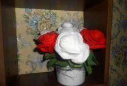 Rosas de algodão