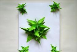 Papuoškite dovaną origami gėlėmis