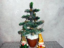 Juletræ lavet af plastflaske