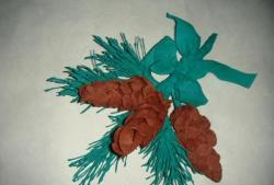 Sprig of spruce with cones
